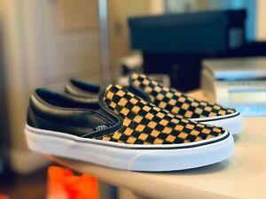 9d47ce1038 Vans Classic Slip-on CALF HAIR CHECKER SKATE Shoes Size Men s 8 ...