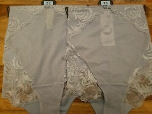 3 PAIRS M/&S LACE LOW RISE SHORTS WITH STRETCH KNICKERS SIZE 10 WHITE ELEGANT NEW