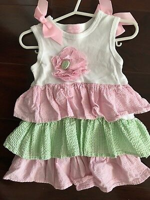 NWT Mud Pie Toddler Girls Size 2T//3T Pink seersucker w//trim*Cover Up