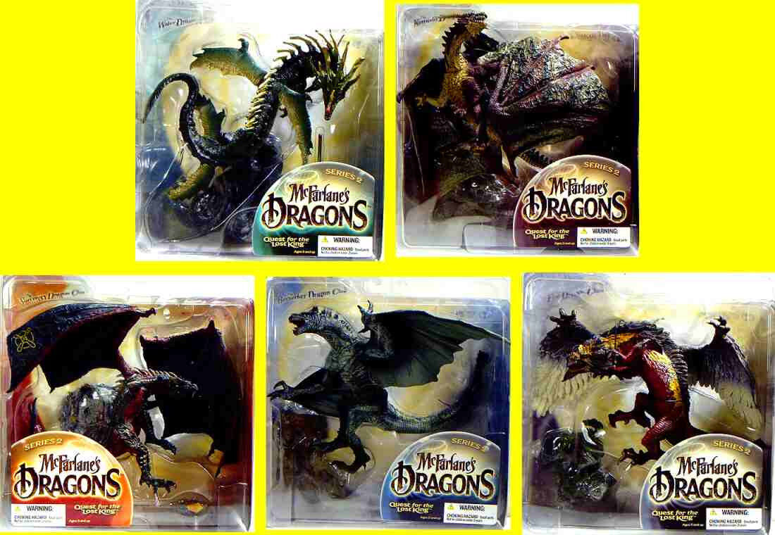 McFarlane Toys Dragons Series 2 Lost King 5 Action Figure Set  New 2005 Amricons