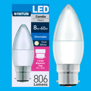 Status Dimmable LED Candle Light Bulbs B22 BC E14 SES Warm Cool Day White