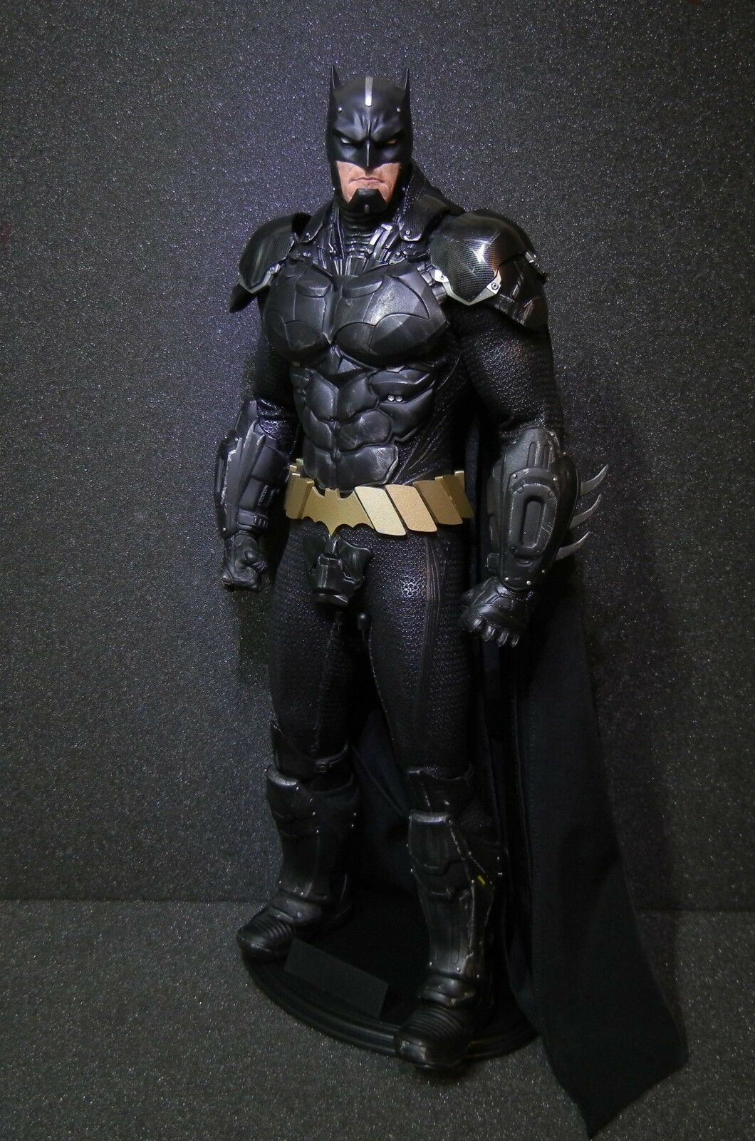 Custom 1/6 12'  Battle Clad Batman heavily armorosso Hot Toys Sideshow Tony Mei