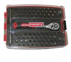 powerfix profi screwdriver bit set 81 piece set ebay. Black Bedroom Furniture Sets. Home Design Ideas