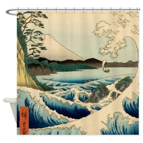 CafePress Japanese Vintage Art Sea Of Satta Shower Curtain 1401901607