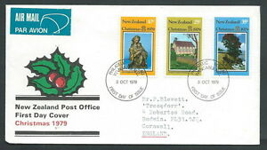 1979 New Zealand Fdc Christmas Timbro Arrivo - V