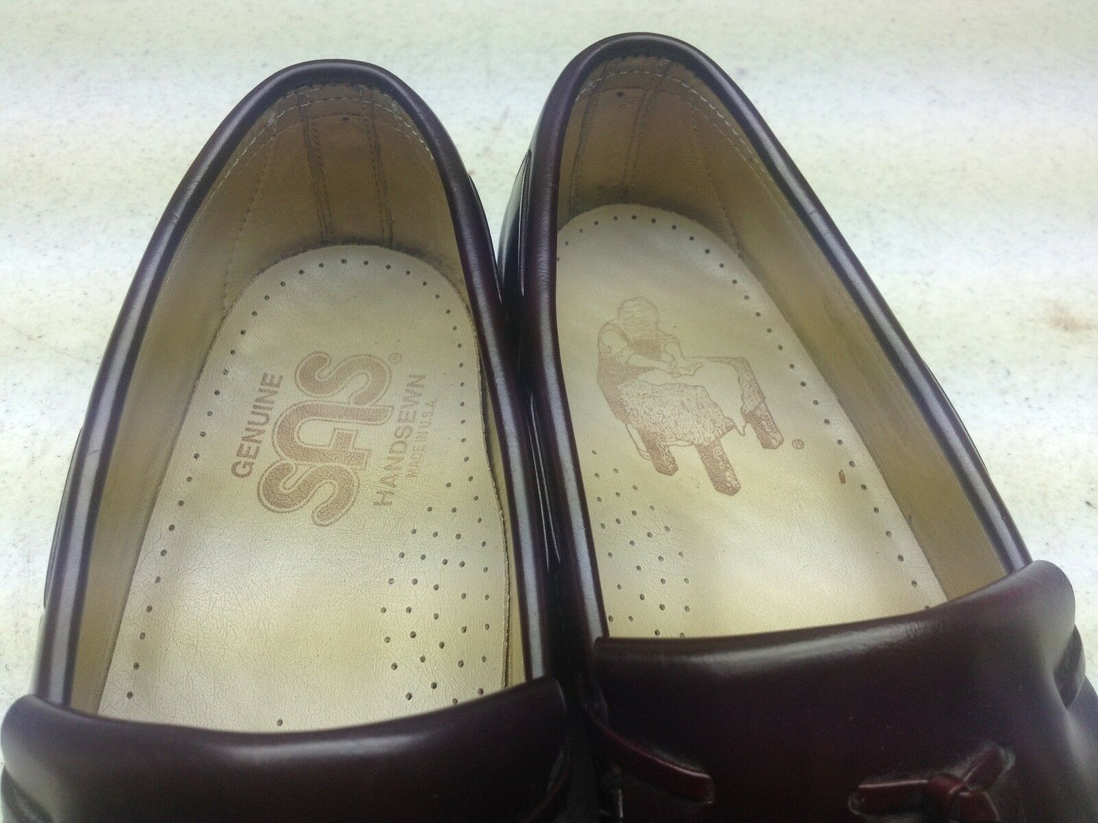 SAS MADE IN USA BURGUNDY LEATHER 8.5 SLIP ON POWER DRIVING SATURDAY SHOES 8.5 LEATHER D 1f775d