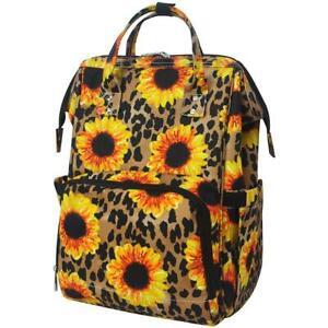 Leopard Sunflower NGIL Diaper Bag Baby Kids Toddler Mom Backpack Free Ship! NEW