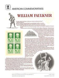 289-22c-William-Faulkner-2350-USPS-Commemorative-Stamp-Panel