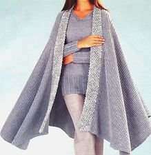 "R34 LADYS DK SWEATER& WRAP WITH/OUT TRIM 32-42"" 81-107c VINTAGE KNITTING PATTERN"