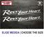 STICKER VINILO PEGATINA DECAL VINYL AUTOCOLLANT ADESIVI  YAMAHA REVS YOUR HEART