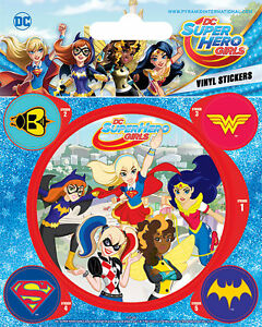 10x12,5 Cm Rheuma Lindern Super Hero Girls Stickerset Set 5 Sticker Aufkleber Kompetent Dc Comics Ca