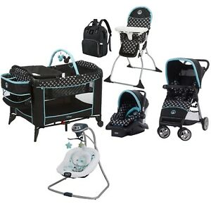 Baby Boy Combo Playard Stroller Car Seat Swing Chair Bag ...