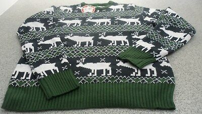 Ausdrucksvoll Genuine Star Men's Christmas Fair Isle Knit Jumper/ Knitwear, Navy/white/green In Vielen Stilen