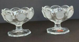 Vintage-1977-Fostoria-Avon-Glass-Coin-91st-Anniversary-Nut-Candy-Bowl-Dish