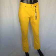 NWT Ben Sherman Mens ROD Lowe Rise Skinny Jeans Size 32 x 32 Yellow Denim Pants