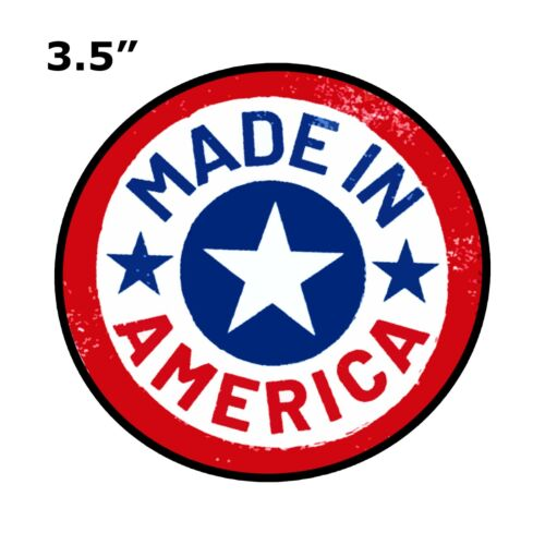MADE IN AMERICA USA STAR EMBROIDERED PATCH IRON SEW-ON BIKER EMBLEM