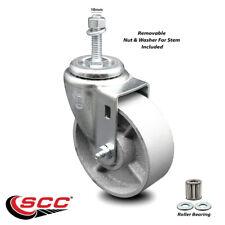 Semi Steel Swivel Threaded Stem Caster Withroller Bearing 4 Wheel Amp 10mm Stem