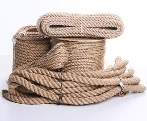 Juteseil-Tauwerk-Handlauf-Seil-Hanfseil-Seil-Tau-Naturhanf-Deko-alle-Laengen