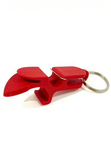 RED SHOTGUN TOOL//BOTTLE OPENER KEYCHAIN