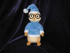 "Alvin & The Chipmunks SIMON Plush, TY, Blue Winter Clothes, 7"" Hat Cap Xmas 2011"