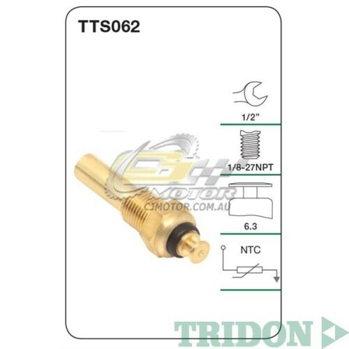 Petrol LB9 VU TRIDON WATER TEMP FOR Holden Commodore-8Cyl 03//89-04//95 5.0L