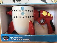 Novelty Ceramic Mug Coffee Cup - The Retro Ray Gun Rocket by Bigmouth