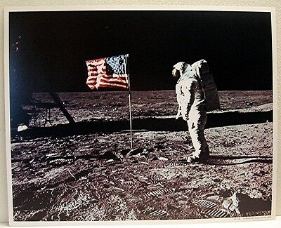 1969 NASA Apollo Buzz Aldrin Walking on Moon Surface  AP #1108 Old Store Stock