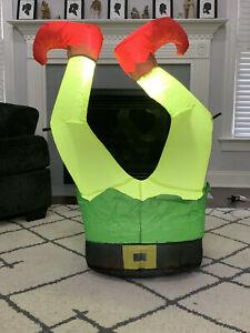 Gemmy Airblown Inflatable Elf Legs 3.5 Ft
