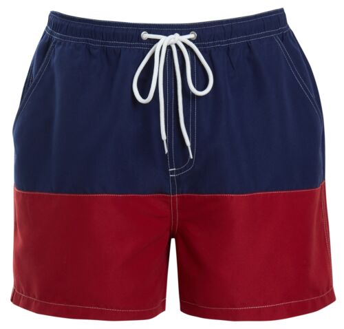 Tom Franks Mens Colour Block Swim Shorts