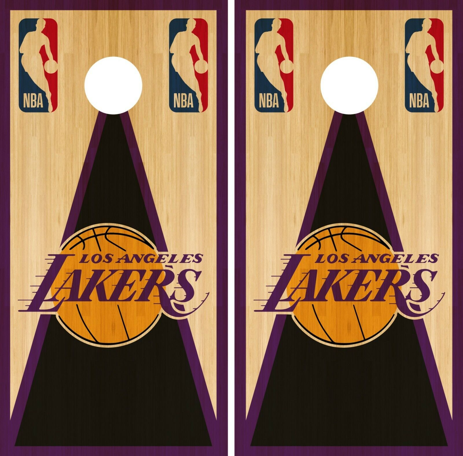 Los Angeles Lakers Cornhole  Wrap NBA Vintage Game Skin Set Vinyl Decal CO629  cheap in high quality