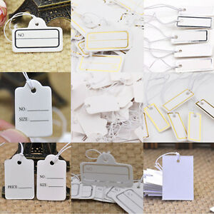 ... 500/1000Pcs Luggage Wedding Gift Blank Tag Hang Card Price Tags eBay