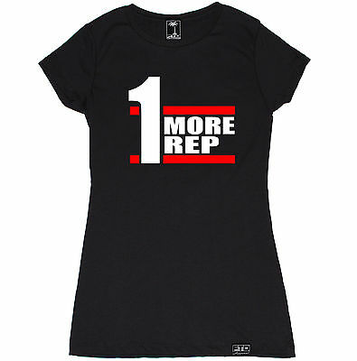ONE MORE REP WOMEN T SHIRT WORKOUT MODE BEAST WEIGHTS CROSSFIT YOGA GYM FUNNY
