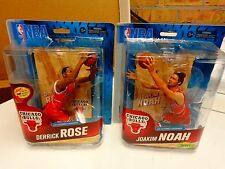 Derrick Rose Joakim Noah  Chicago Bulls NBA Mcfarlane 2 Figure Lot BRAND NEW!