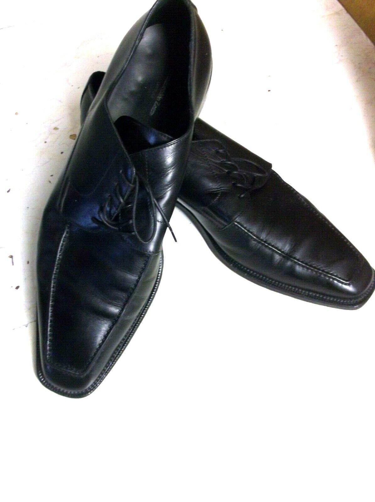 Nuova lista ERMENEGILDO ZEGNA COUTURE Solid nero Leather Leather Leather Uomo Dress scarpe 12 D made italy  autorizzazione ufficiale