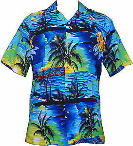 Hawaiian-Shirt-Mens-Allover-Print-Beach-Camp-Party-Aloha-Beach-Holiday-Camp