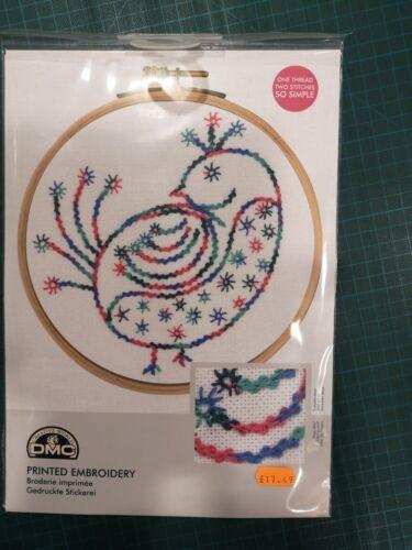 DMC Imprimé Broderie Kit petits oiseaux Pretty COY Inc Hoop 28 CT EVENWEAVE