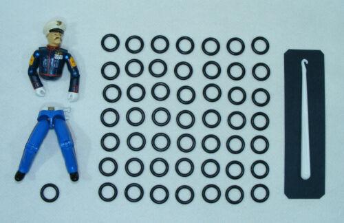 HAKEN Versand 24h G.I Action Force 50 x NEU Gummibändern GI Joe Reparatur