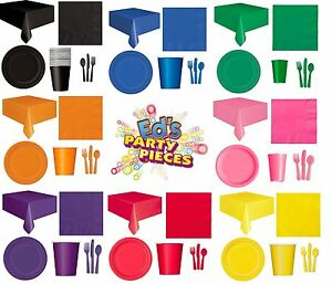 PARTY-TABLEWARE-Plates-Cups-Napkins-Tablecovers-Bags-Balloons-Fixed-UK-p-amp-p