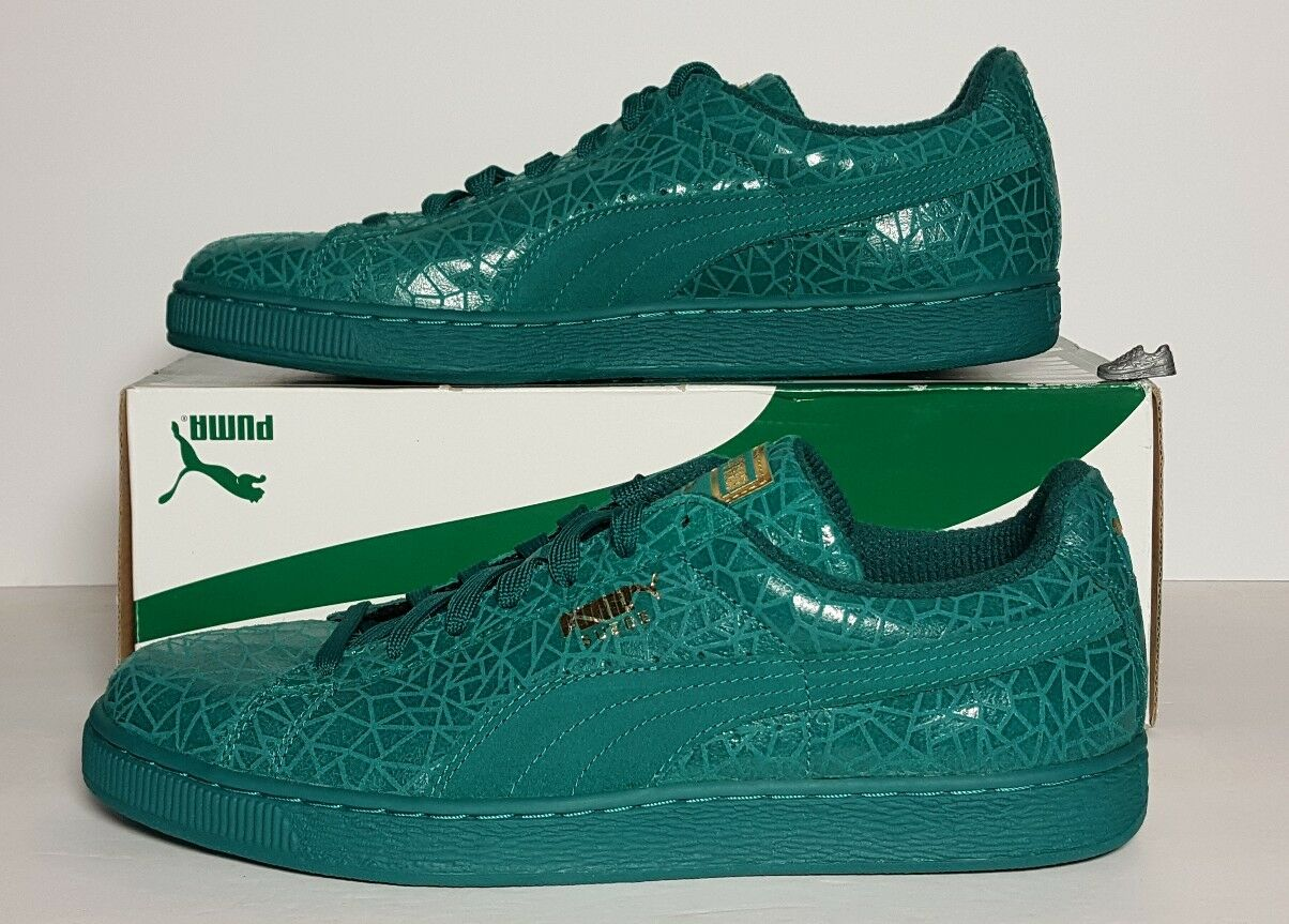 Puma Suede Suede Suede Crackle Men 361858-01 Parasailing Green Size 11  Athletic shoes  New f463d7