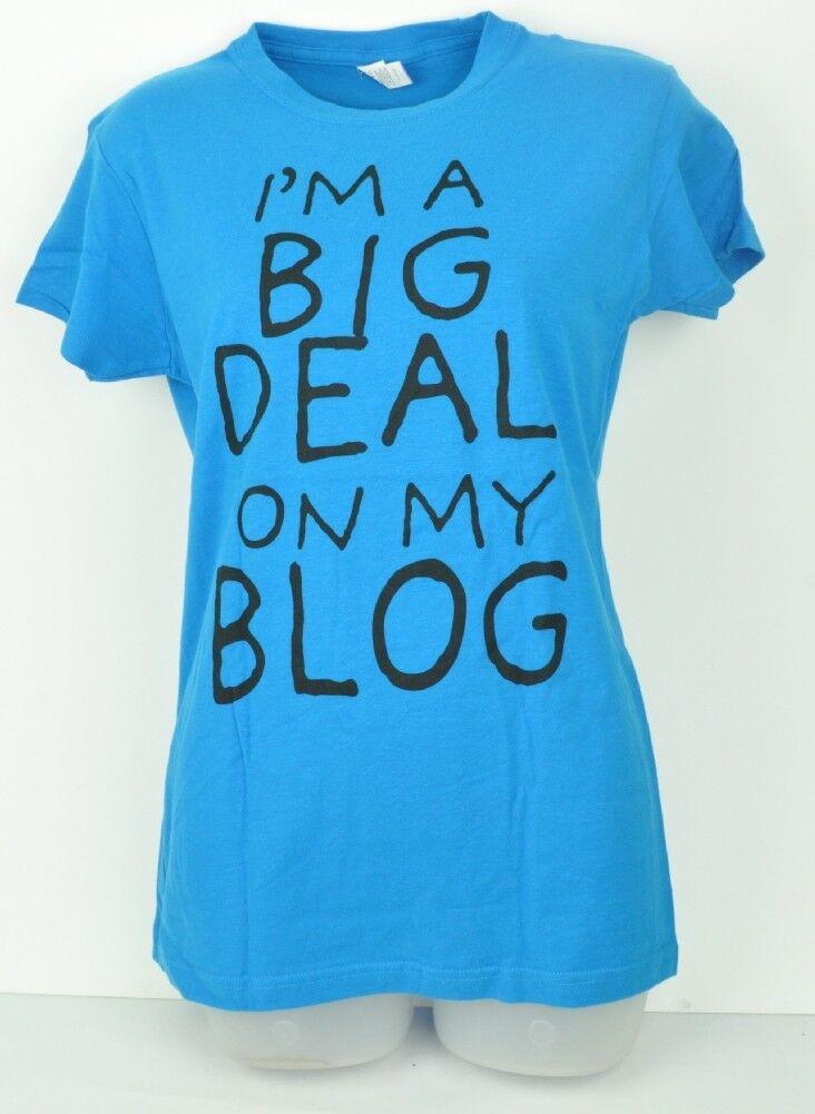 Royal Bleu M I'M A Grand Deal On My Blog Femmes T-Shirt Ras Cou Chic Mignon