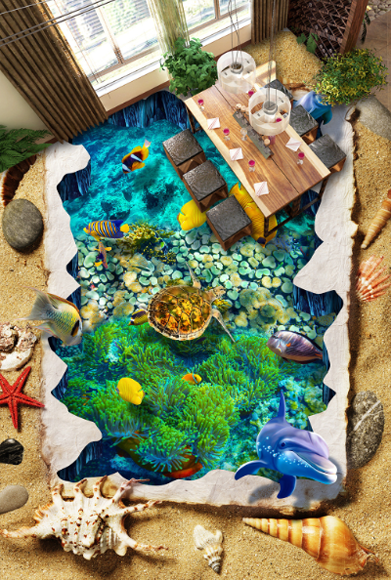 3D Sea Style Creative 34 Floor WallPaper Murals Wall Print Decal 5D AJ WALLPAPER