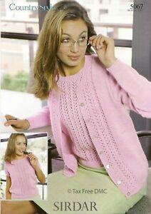 Vat Free Knitting Pattern Only To Make Twinset Jumper Cardigan Lady