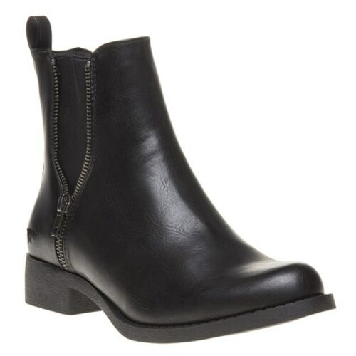 New elasticizzato Rocket Ankle On Boots Nero Dog Pull Camilla Pu Womens r8q75r