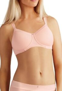 12853cf3fad12 Image is loading AMOENA-LARA-SATIN-POST-MASTECTOMY-BRA-LIGHT-ROSE-