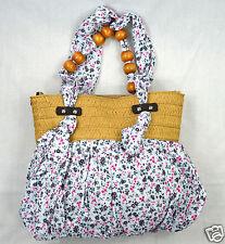 Tasche Damentasche  Blumen  Stofftasche Schultertasche Handtasche Strandtasche