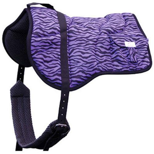 girth  /& water bottle BEST FRIEND Western Bareback Pad Purple Zebra  BF020PZ