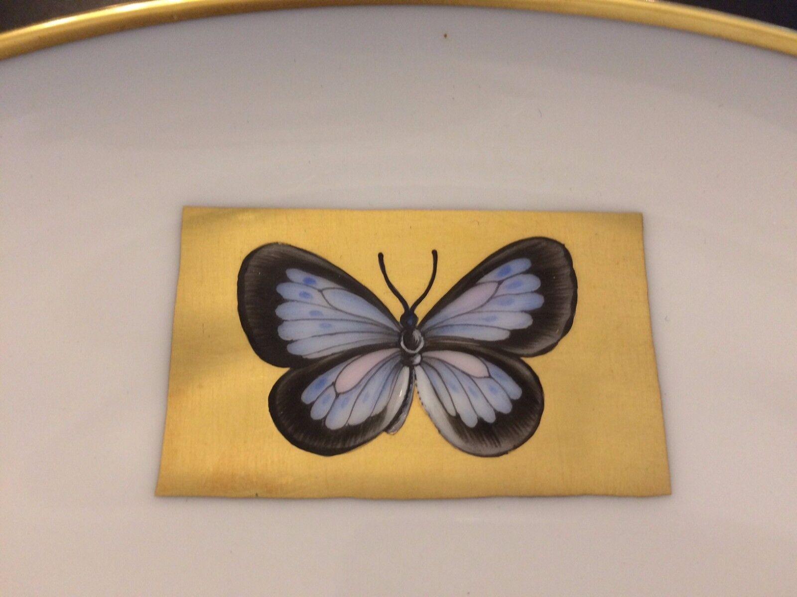 Herend Ungarn Teller handbemalt Schmetterling Butterfly Goldrand Hermitage 27 cm | Flagship-Store
