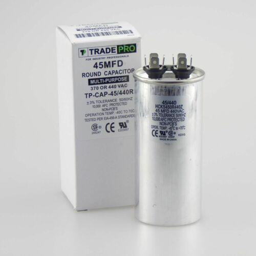 TRADEPRO® TP-CAP-45//440R Round Run Capacitor 45 MFD 440V