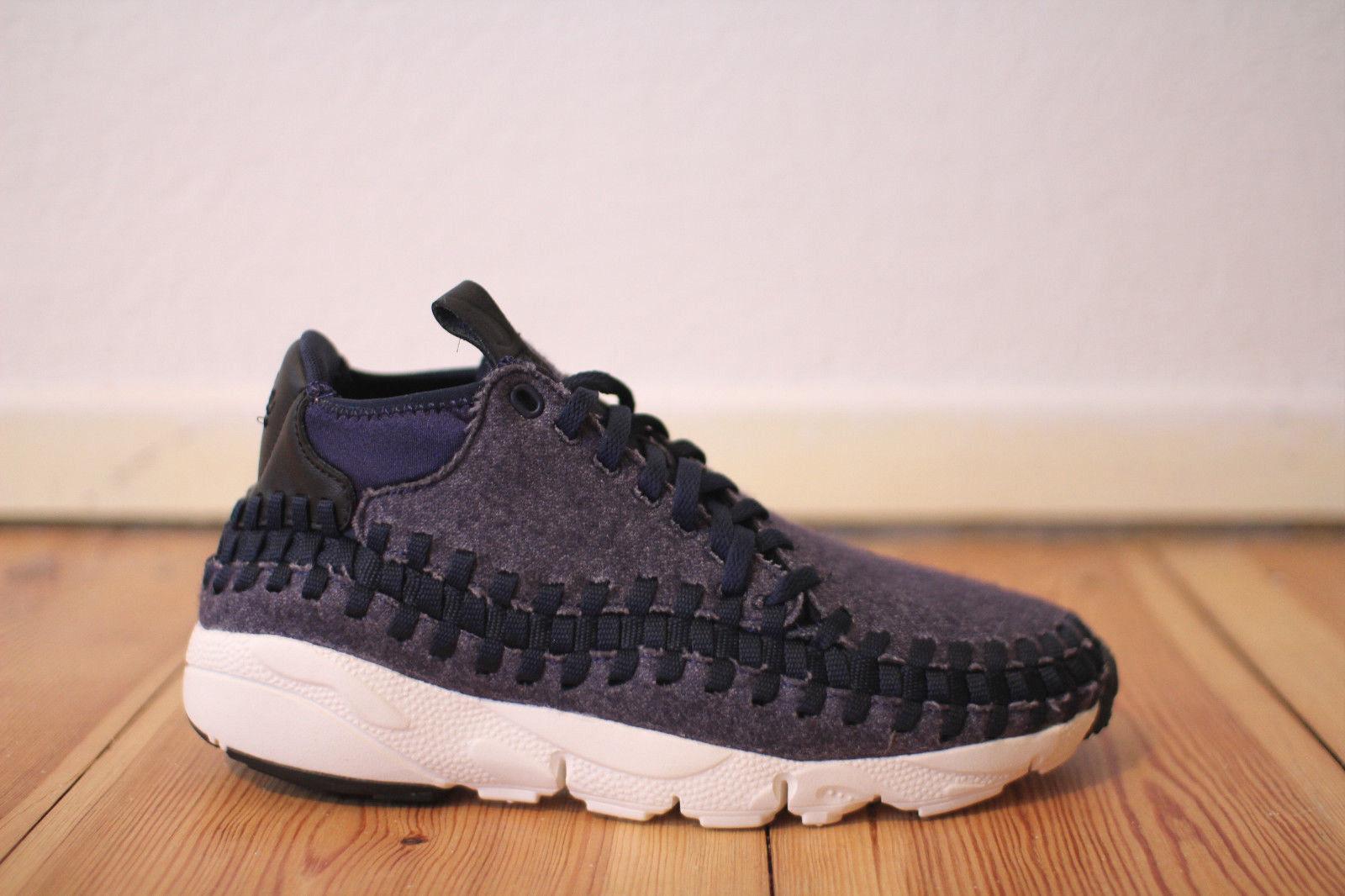 Nike Air Footscape Woven Chukka SE bluee black Gr. 43,45 NEU & OVP