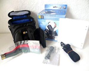 Case-Logic-DVB4-Compact-Digital-Camera-Camcorder-Bag-Starter-Kit-Tripod-Cloth